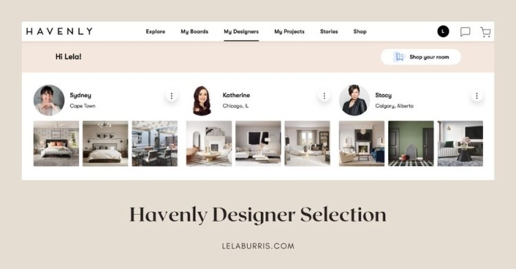 Havenly review of designers