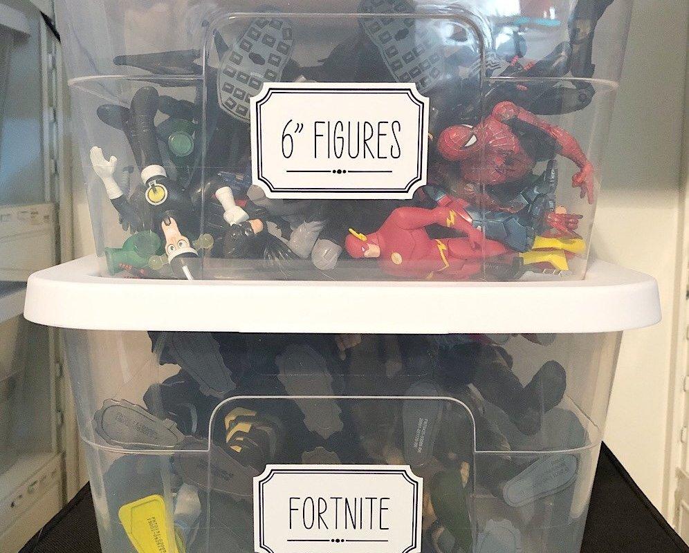 Cricut Joy smart labels for kids toy organization