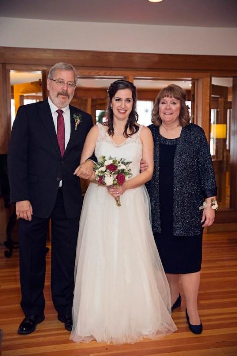 Leland Lodge | Fishtown Leland Hotel | Winter Wedding | Bride Walking Down Aisle