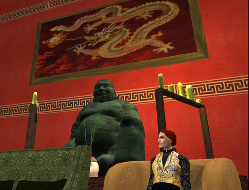 Dragonlands Hotel Interior with Buddha