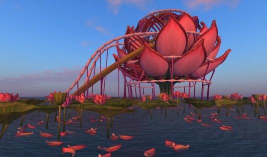 Lotus Stage at Sunrise