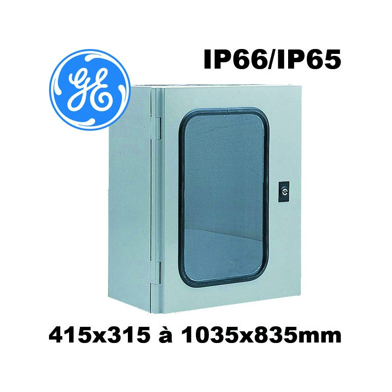 Coffret Polyester Avec Porte Transparente Tanche IP66