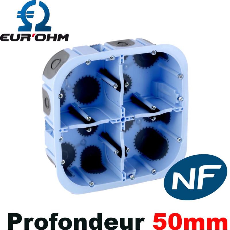 boitier d encastrement 2x2 postes eurohm 51017