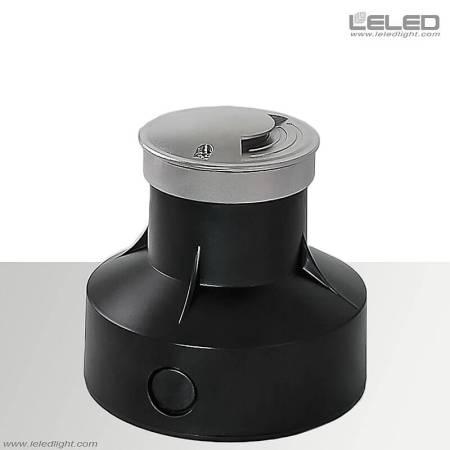 Lampes à LED dans le sol avec un seul secteur de surface verticale