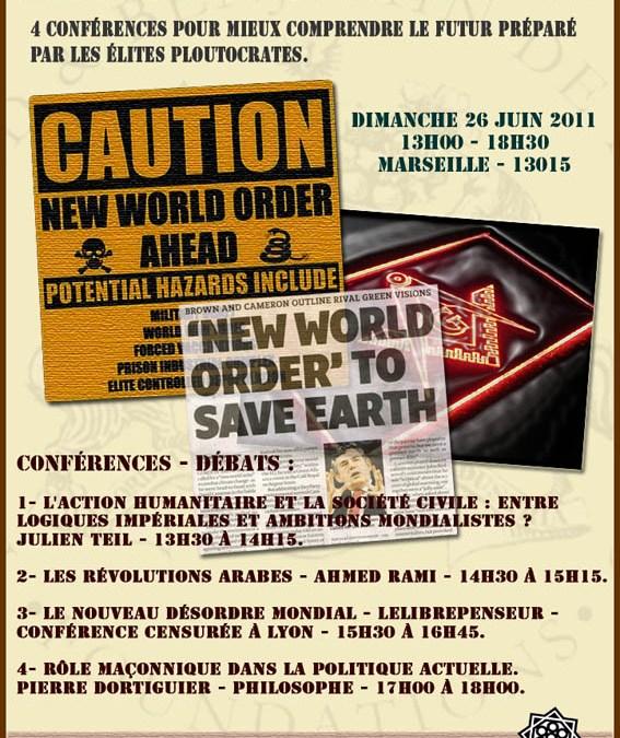 4 Conférences sur Marseille – 26 juin 2011