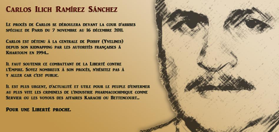 Procès de Carlos le 7 Novembre à Paris