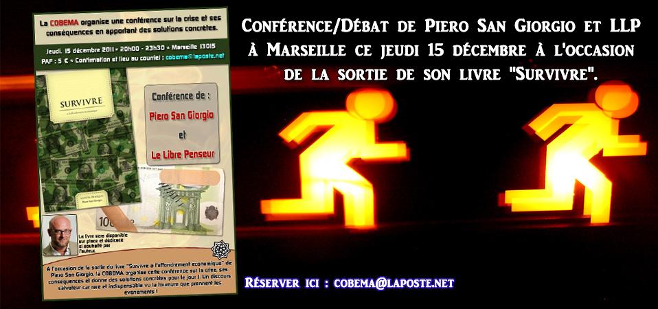 Conférence de Piero San Giorgio et LLP à Marseille