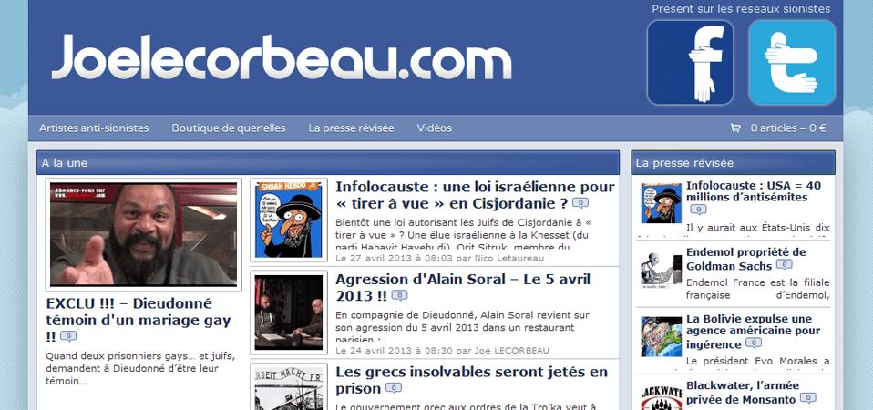 Nouveau et excellent site de Joe Lecorbeau mis en ligne depuis hier : http://joelecorbeau.com/