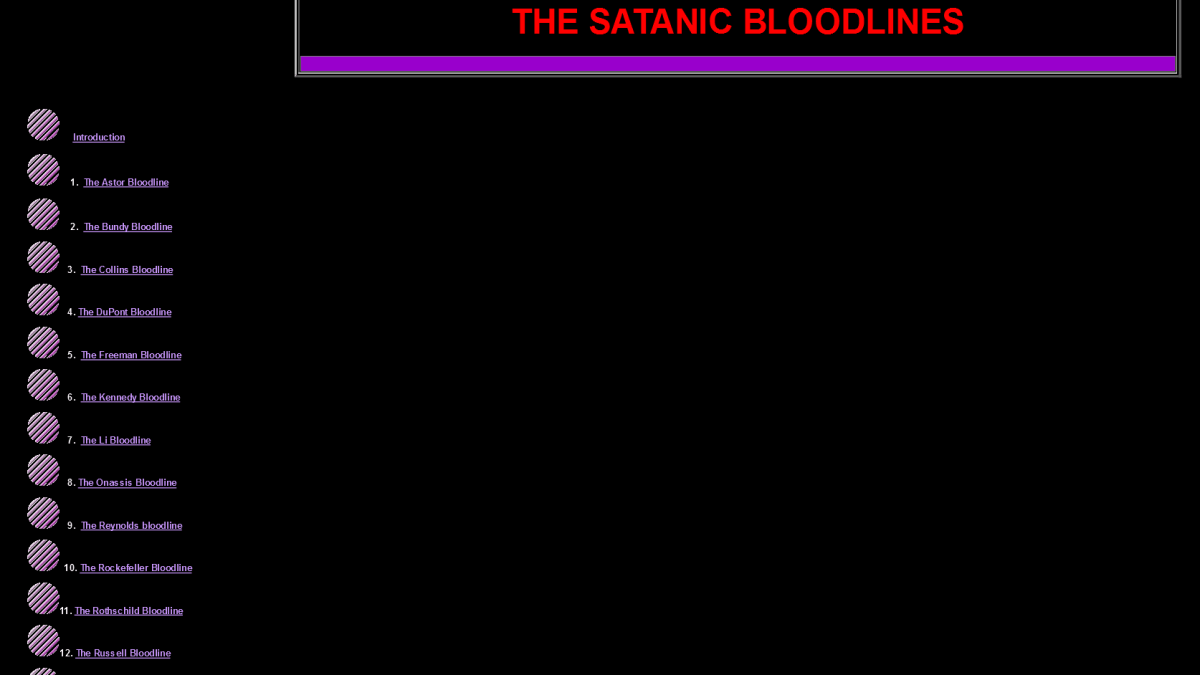 Les 13 lignées sabbataïstes !
