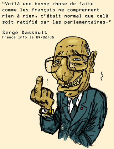 Serge Dassault crapule politique et leader industriel et médiatique !