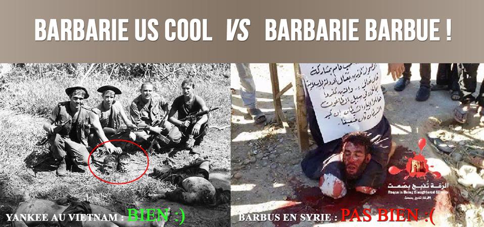 Barbarie démocrateuse Vs Barbarie barbue !