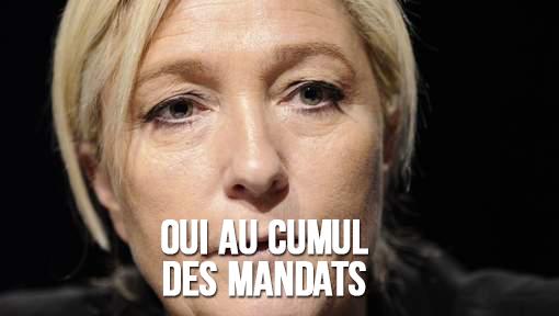 Marine Le Pen et le cumul des mandats
