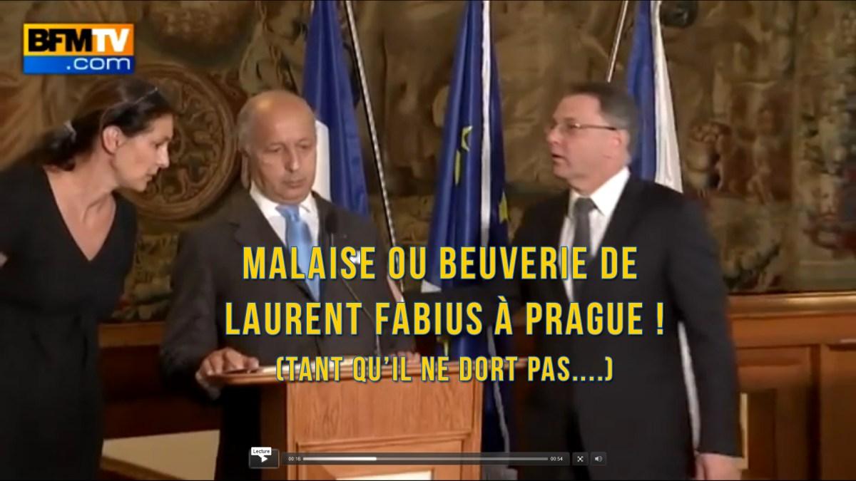Malaise/Beuverie de L. Fabius à Prague : «Je suis en super forme» !