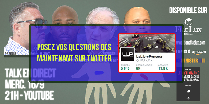 Posez vos questions dès maintenant sur Twitter