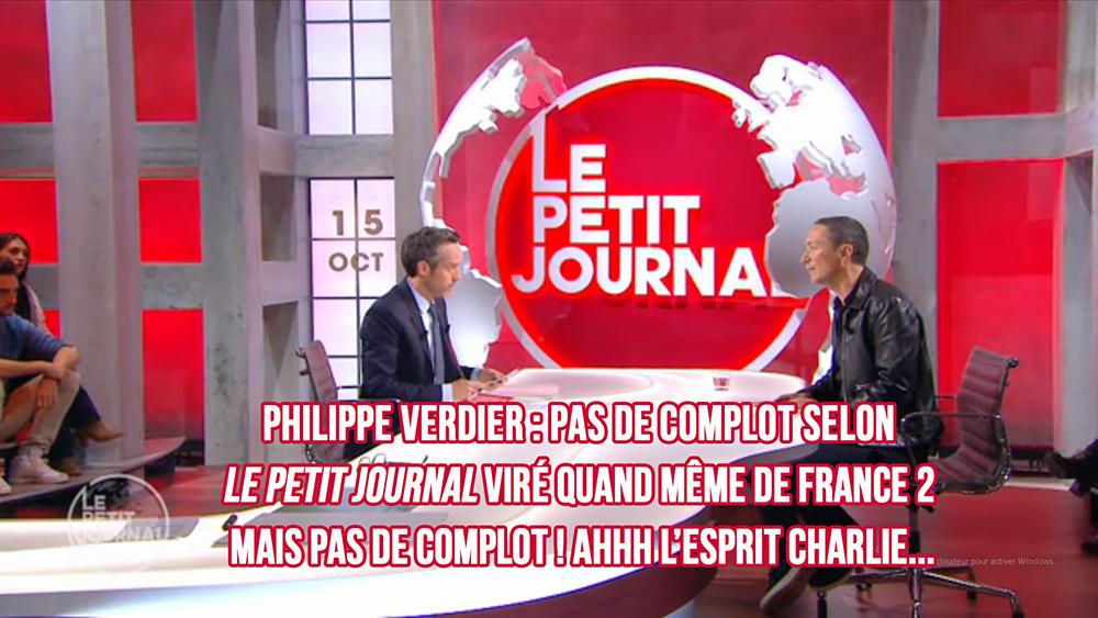 Philippe Verdier : pas de complot selon le Petit Journal, mais viré quand même de France 2 !