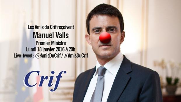 Valls et le CRIF sont inséparables !