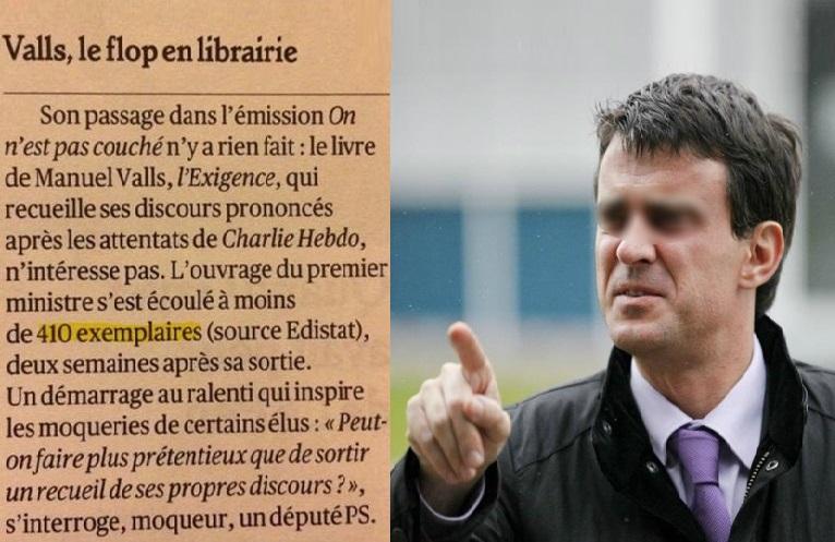 Le flop de Manuel Valls en librairie : 410 exemplaires vendus en 15 jours !
