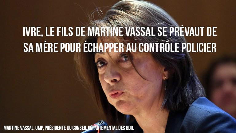 Ivre, le fils de Martine Vassal se prévaut de sa mère pour échapper au contrôle policier