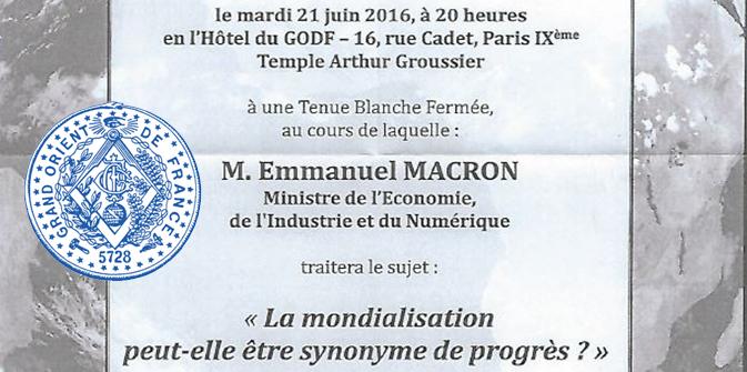 Macron fait le show au Grand Orient