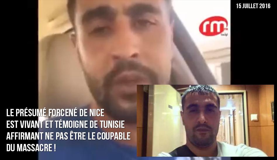 Le présumé forcené de Nice serait vivant et témoigne de Tunisie, affirmant ne pas être le coupable du massacre