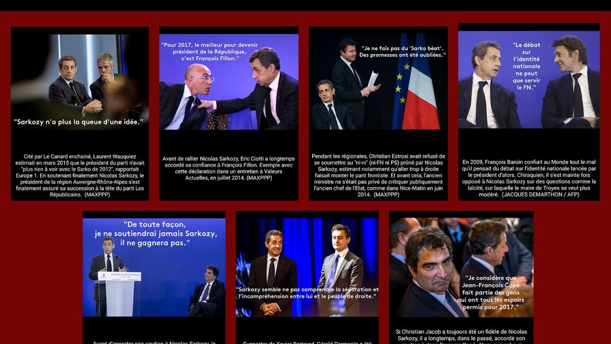Liste de l'extraordinaire équipe de traîtres opportunistes de Nicolas Sarközy