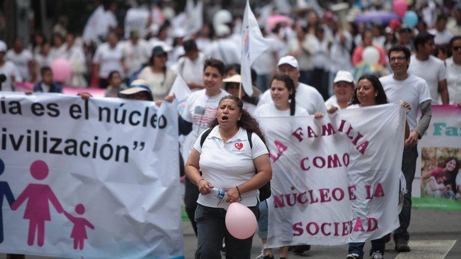 Des milliers de manifestants contre le mariage gay au Mexique