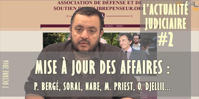 Actualité du harcèlement judiciaire 2 : Bergé, Nabe, Soral et sa secte, M. Priest, Omar Djellil…