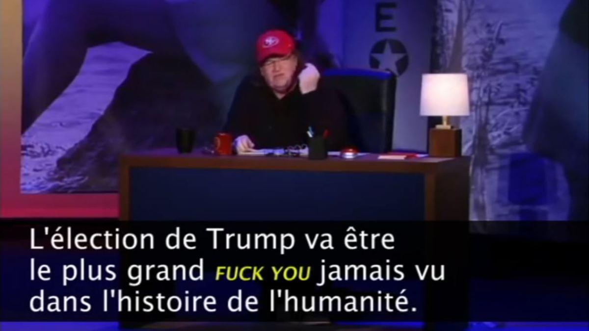 Michael Moore se réjouit d'une probable victoire de D. Trump !
