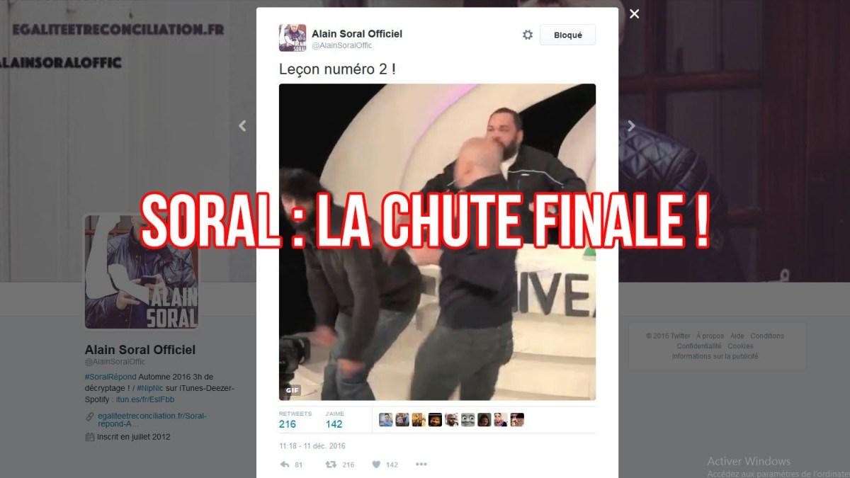 La chute finale de Soral ! Twitter se déchaîne…