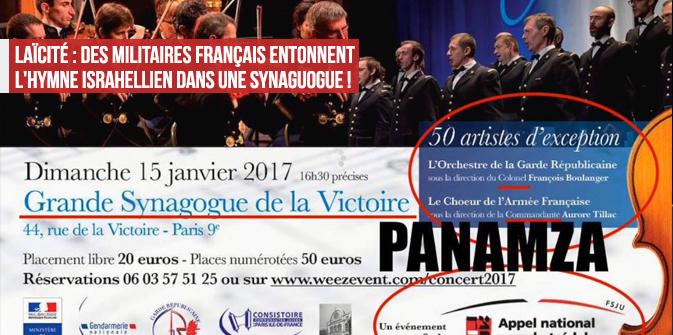 Des militaires français entonnent l'hymne israélien, par Panamza