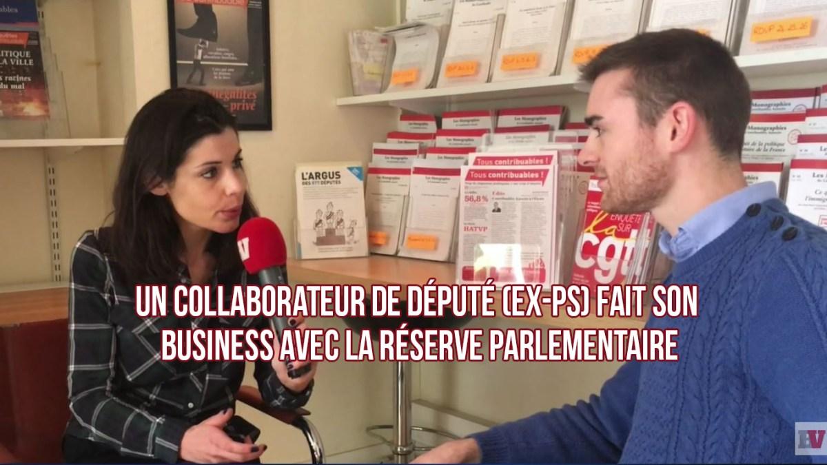 Un collaborateur de député (ex-PS) fait son business avec la réserve parlementaire