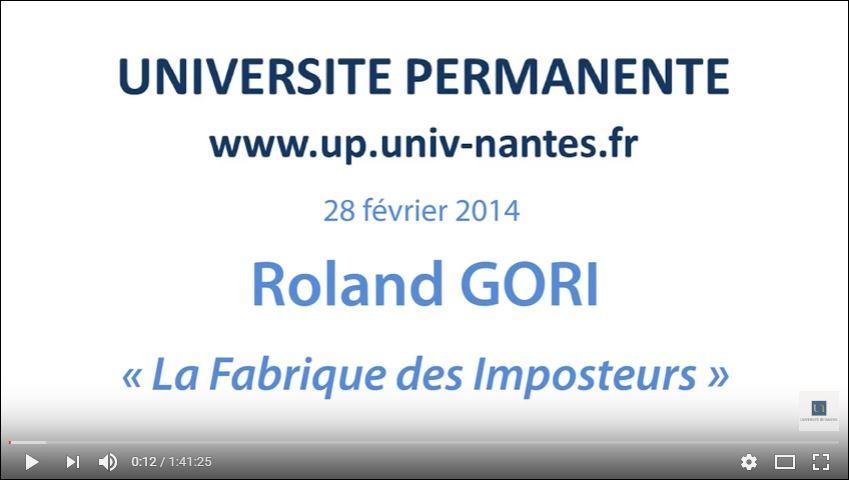 Roland Gori : «La fabrique des imposteurs» !