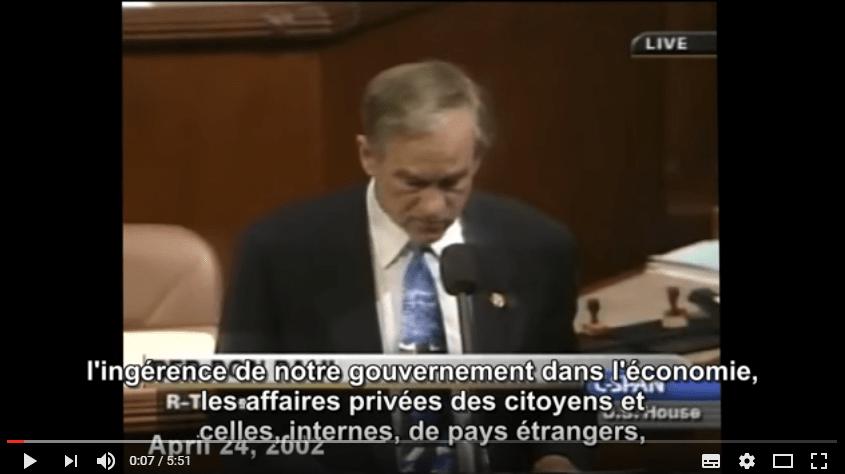 Prédictions de Ron Paul [sous-titres en Français]