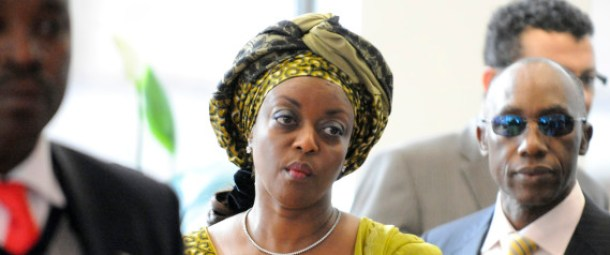 Diezani Alison-Madueke , Nigeria's minister of petroleum, center, arrives for the 157th Organization of Petroleum Exporting Countries (OPEC) meeting in Vienna, Austria, on Thursday, October 14, 2010. Oil climbed for a second day in New York after an industry-funded report showed U.S. crude supplies fell and the Organization of Petroleum Exporting Countries moved closer to improving compliance with production cuts. Photographer: Vladimir Weiss/Bloomberg via Getty Images