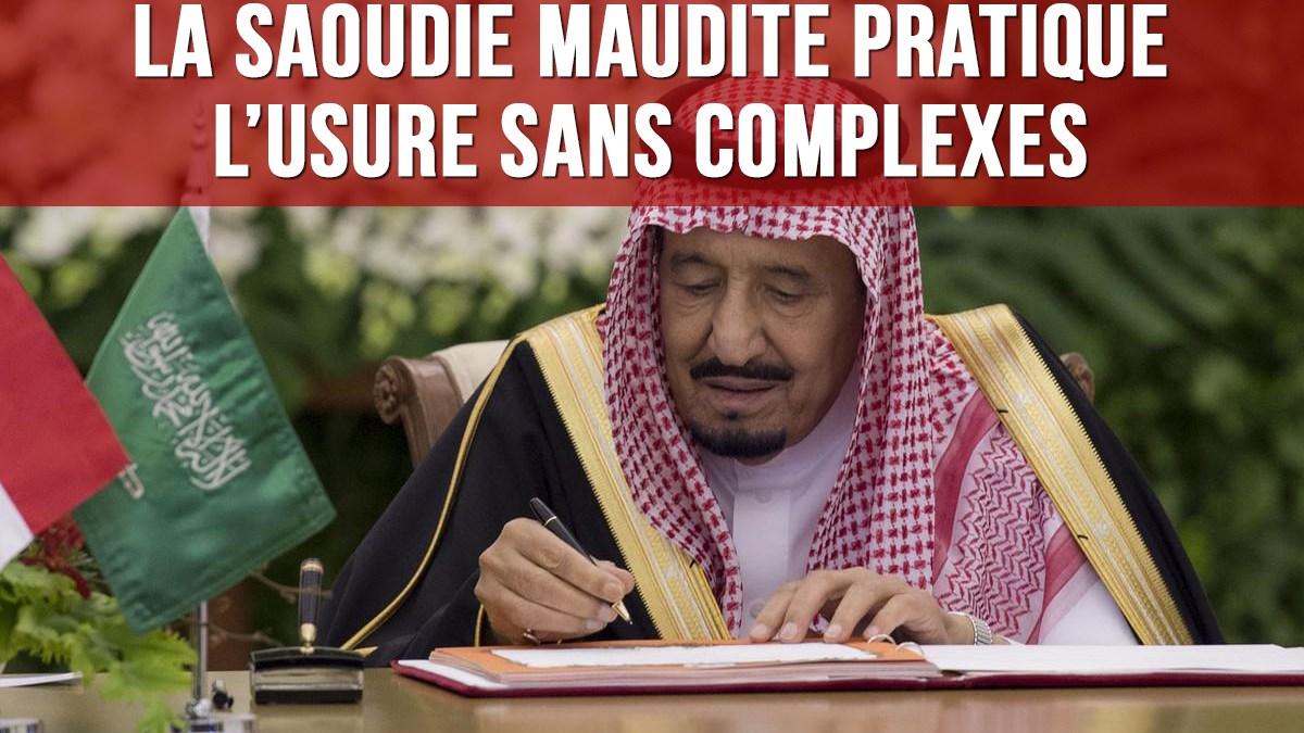 Usure/FMI : la Saoudie sabbataïste ne se cache plus !