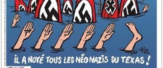 Les Américains choqués par la Une de Charlie Hebdo sur les sinistrés d'Harvey