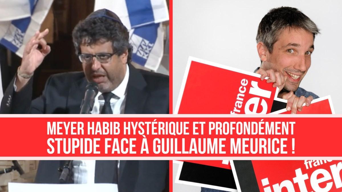 Meyer Habib hystérique et profondément stupide face au Moment Meurice !