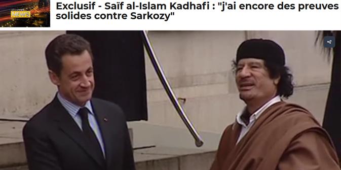 Seïf al-Islam Kadhafi : « J'ai encore des preuves solides contre Sarkozy »