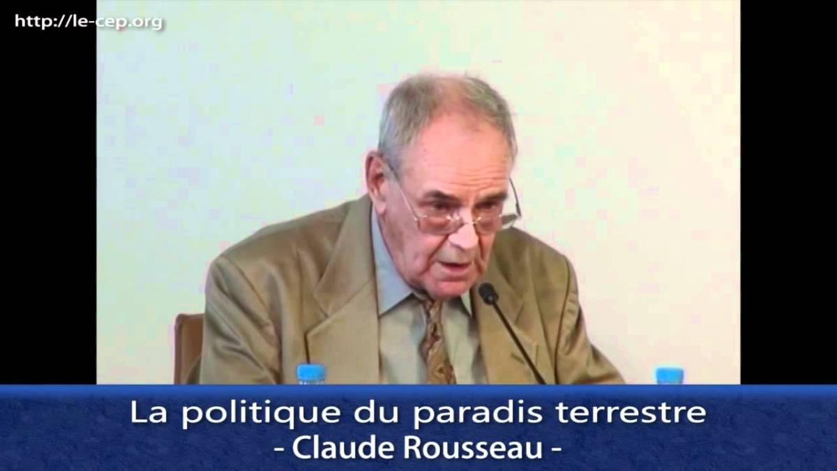 Conférence de Claude Rousseau sur la politique du paradis terrestre