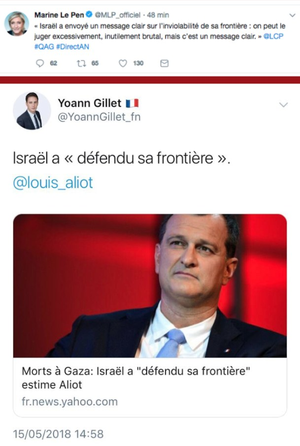 Aliot-israel-FN-MLP-sionisme-massacre-Gaza