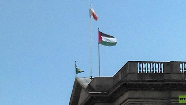 mairie_Dublin_drapeau_palestinien