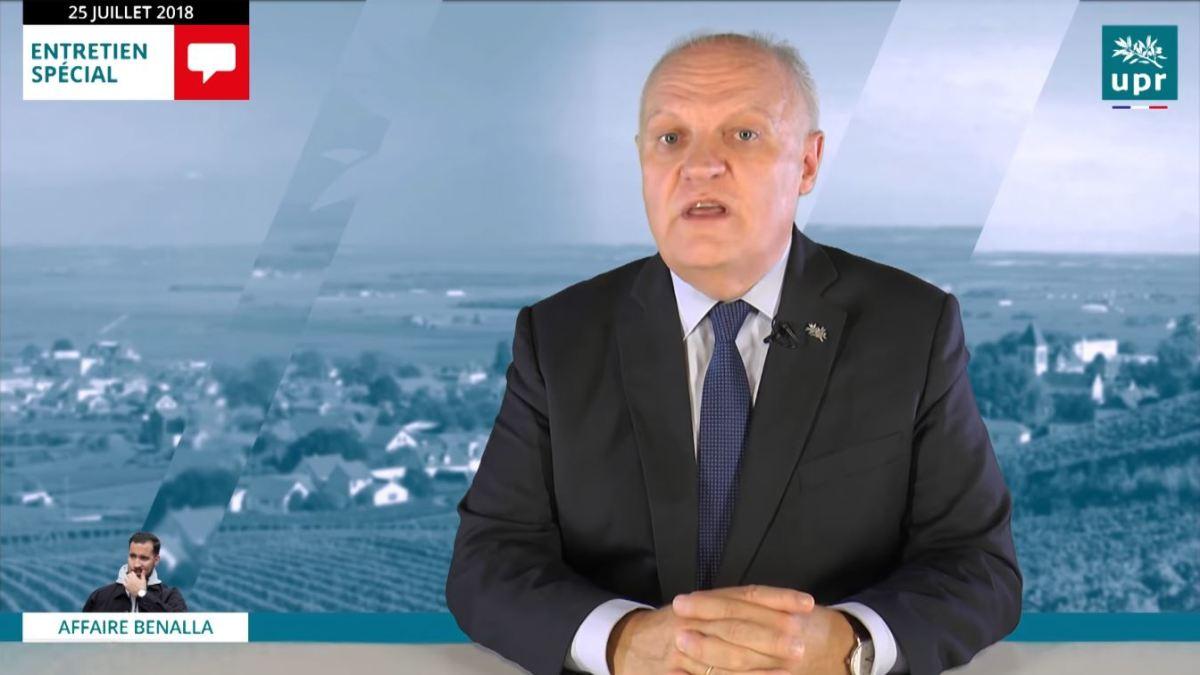 Appel de M. Asselineau aux parlementaires l'engagement de l'article 68 de la Constitution