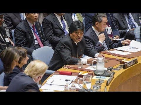 ONU : le Président bolivien Morales humilie Trump !