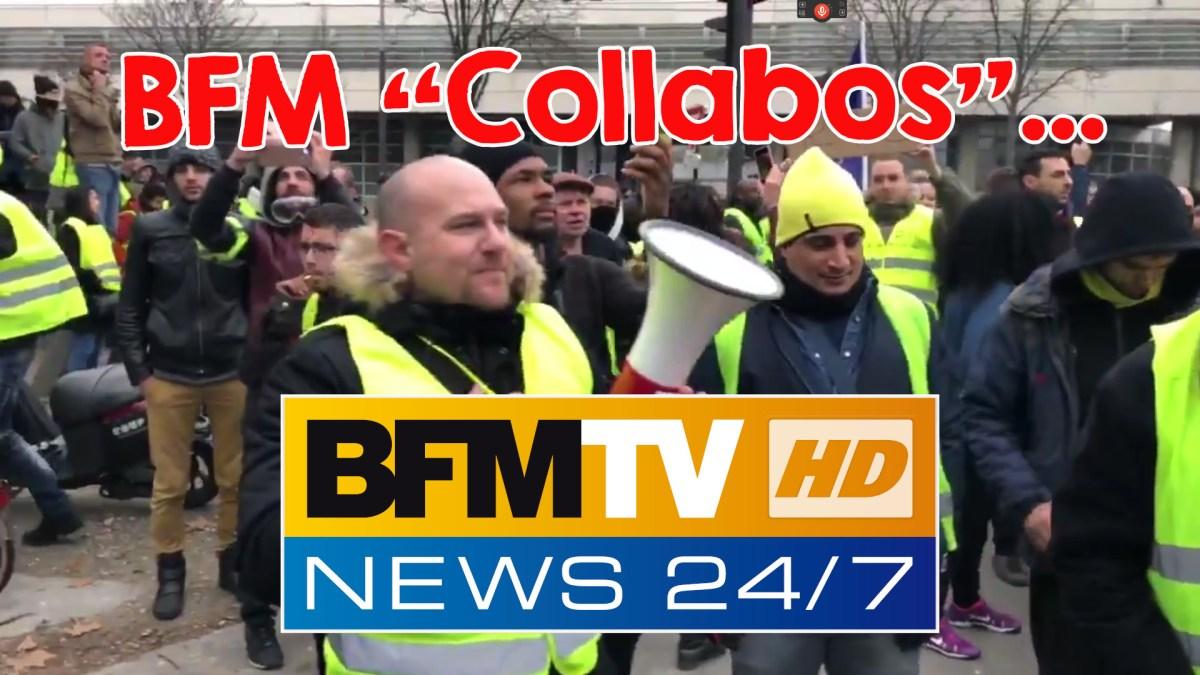 Des #GiletsJaunes scandent « journalistes collabos » devant le siège de BFM TV