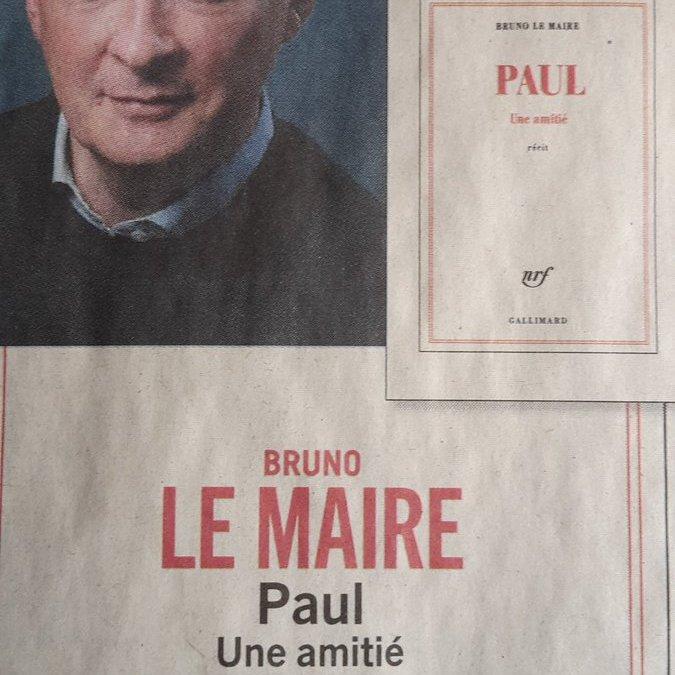 Cirque : Bruno Le Maire a donc le temps d'écrire un livre !