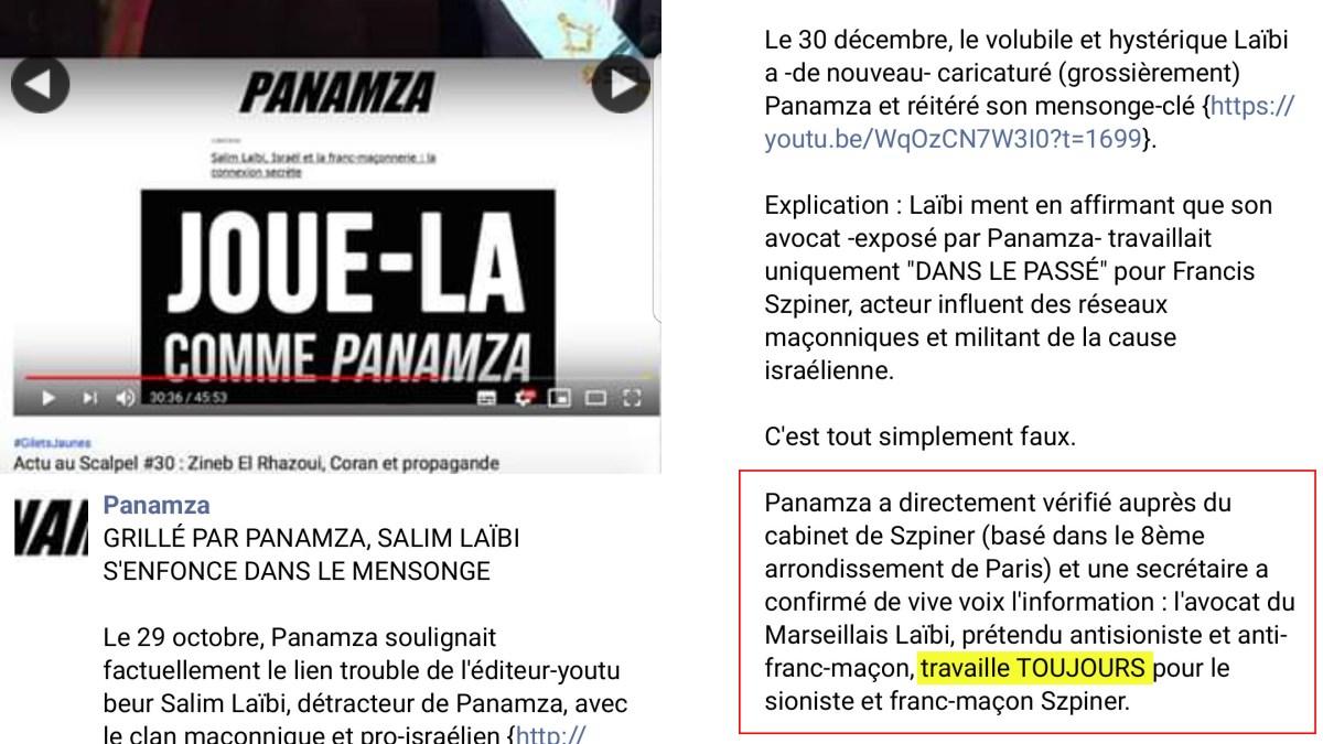 Panamza est un menteur : en voici la preuve !