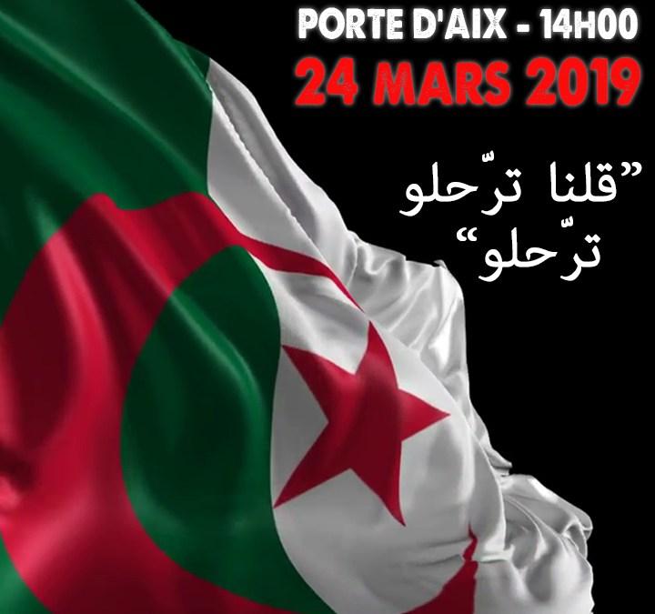 Manifestation contre le système Bouteflika à Marseille ce dimanche 24 mars à 14h00 à la Porte d'Aix