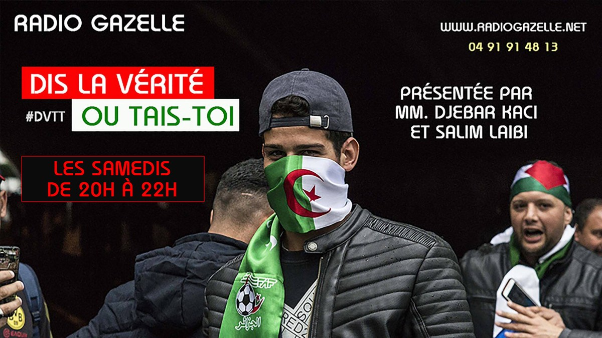 Algérie : MM. Salim Laïbi et Djebar Kaci en direct sur Radio Gazelle les samedis de 20h à 22h