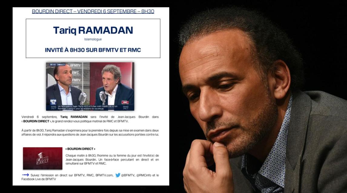 Vendredi sur RMC/BFMTV : Tariq Ramadan en quête d'une vaine réhabilitation !