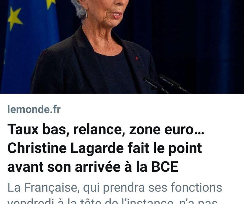 La délinquante Christine Lagarde désignée à la tête de la BCE !